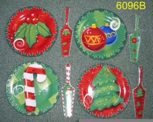 Kerstmis Themed versterkt de Plaat van de Cake van het Vaatwerk van het Porselein