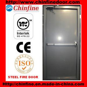 Porte coupe-feu en acier avec le dispositif de sortie de barre de panique (CF-F007)