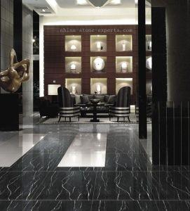 Azulejo de suelo de m rmol negro blanco y negro polished for Marmol negro y blanco