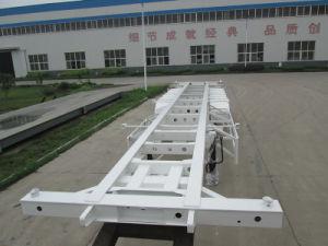 40FT 2 Semi Aanhangwagen Skw9380tjzg van het Vervoer van de Container van de As de Skeletachtige