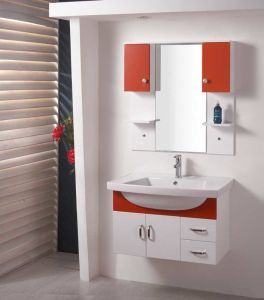 PVC浴室用キャビネットのSanitarywareの浴室用キャビネット(W-135)