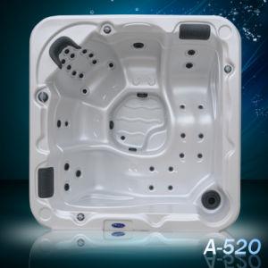 Baignoire d'acrylique de massage de tourbillon de sièges de salon d'A520-L deux