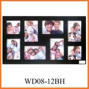 черная рамка фотоего MDF 8-Opening (WD08-12BH)