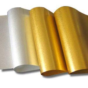 Resíduo metálico da película do ANIMAL DE ESTIMAÇÃO da impressão do ouro (F39-189)