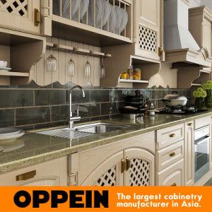 Oppein roble de madera sólida del gabinete de cocina
