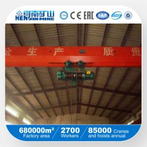 Grúa de arriba de poca potencia del puente de viga del alzamiento eléctrico de Lda sola