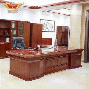 diseo de moda de madera venner l escritorio de la forma mobiliario de oficina moderno