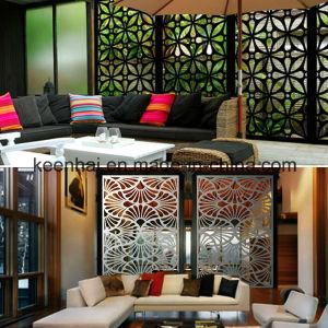 panneau de mur perfor en aluminium d coratif coup par laser pour la fa ade panneau de mur. Black Bedroom Furniture Sets. Home Design Ideas
