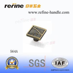 Bouton en alliage de zinc de matériel de meubles (Z-564A)