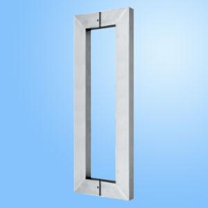 Maneta de puerta de cristal del acero inoxidable (FS-1906)