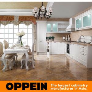 Gabinetes de cocina blancos orientales del MDF del PVC de Oppein París (OP11-L058)