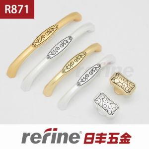 Poignée en alliage de zinc de traction de meubles de conception moderne (R-871)