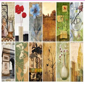 벽 예술을 인쇄하는 현대 손으로 그리는 화포 예술 유화 화포