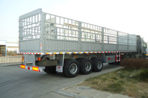 3axles 40tons Stake Semi Trailer