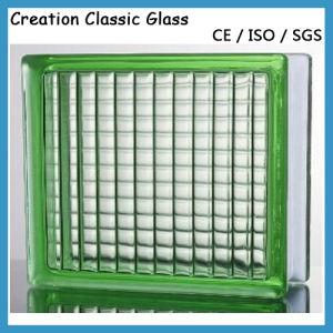 verde claro paralelismo modelado de bloques de vidrio ladrillo de vidrio para la decoracin ccc