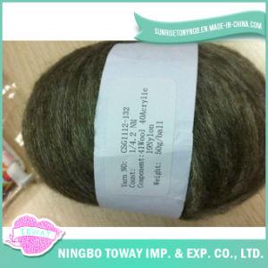 Algodão que tricota manualmente fios de lãs da fantasia do lenço do inverno -9