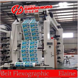 6 Color de papel de impresión flexográfica Máquina (CH886)