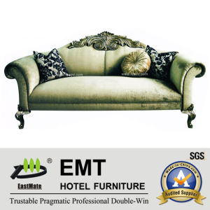 Sofa de luxe d'hôtel de tissu (EMT-SF13)