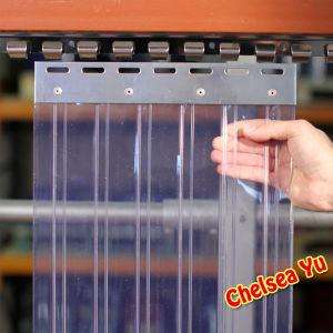 Haut rideau transparent en pvc de cong lateur de chambre froide st 004 haut rideau for Rideau chambre froide