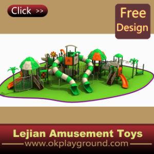 Cour de jeu extérieure en plastique de château merveilleux d'enfants (12097A)