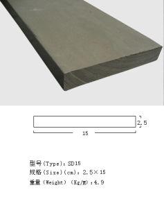 Material composto amigável para o Decking, cerc, corrimão de Eco