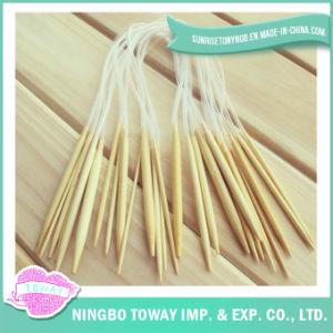 Ganchos de Crochet de confeção de malhas de bambu circulares das ferramentas da agulha de confeção de malhas