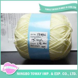 Tricotando manualmente o fio extravagante da mistura acrílica de lãs 16s/12 (T008)