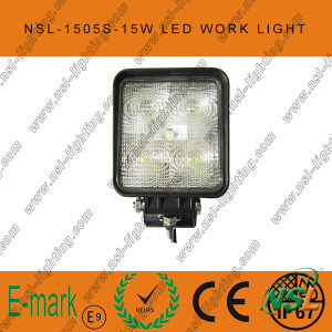 lumière de travail de 15W LED, 10-30V lumière de travail de C.C LED avec 1275lm, faisceau de tache/inondation, 5PCS x 3W Epsitar LED pour des camions, lumière de travail de LED