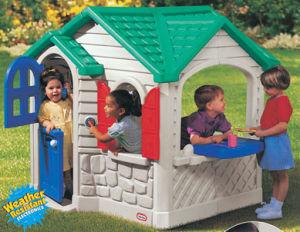 casa plstica del modelo del juguete de los cabritos del juego de los nios plsticos divertidos de la casa