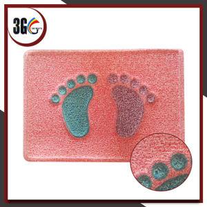 Facile à nettoyer et couvre-tapis de porte bienvenu imperméable à l'eau de PVC