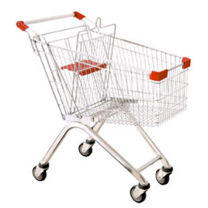 High Capacity Galvanized Steel Supermarket Cart Trolley (HY-80A)
