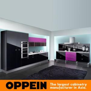Cabinas de cocina de madera integrales púrpuras modernas de Oppein (OP10-X066)