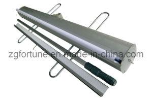De alumínio telescópicos rolam acima o carrinho da bandeira (pés de aço) (FY-LV-18)