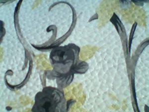 Superfície material do couro do saco do PVC com a flor impressa