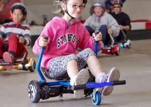 Silla que se sienta de hoverkart hoverboard remolcando el pat n el ctrico de la paleta silla - Silla de patin electrico ...