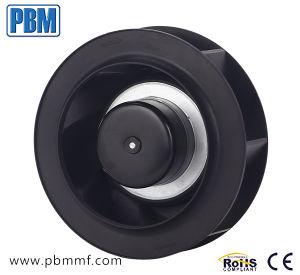 190mm arrière incurvée en plastique Impeller Ec ventilateur centrifuge