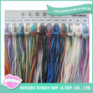 Knitting macio Space Needle extravagante tingido fios de lã para meias