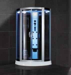 De Stralen van het water masseren de 8mm Aangemaakte Blauwe Zaal van de Douche van het Glas (SR609)