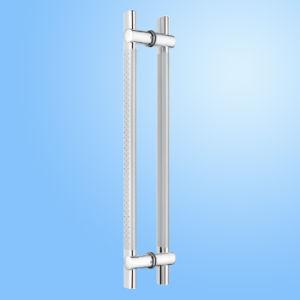 Punho de vidro da tração da porta do aço inoxidável (FS-1848)