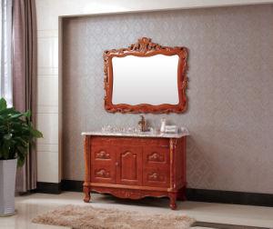 el estilo antiguo de madera maciza sanitario muebles de bao yz