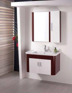 PVC虚栄心の浴室用キャビネット(W-161)