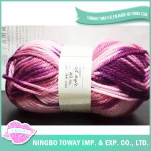 Lã Cor Personalizada Blended Mão Knitting Artesanato Acrílico Fios para Cachecol