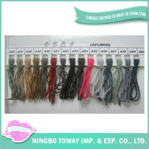 Vente en gros texturé Solid Color handknitting pur fil de laine
