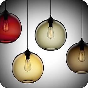 Lampes modernes de boule en verre de lampe pendante de for Boule en verre pour lampe