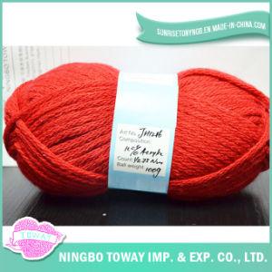 Mão Knitting Super Wash Red Acrílico Knitting Yarn