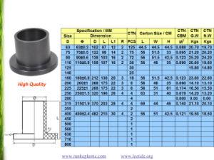 PE100 raccords de tuyauterie pour l'approvisionnement en eau SDR17