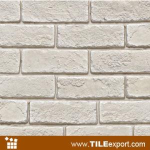 백색 색깔 Handmade 겹쳐 쌓인 인공적인 돌 찰흙 벽돌 (LPZ-631 ...