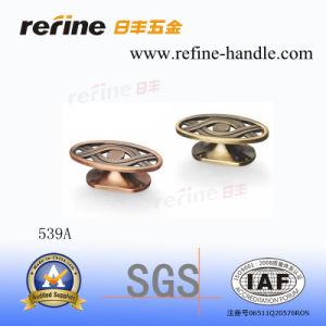 Traitement en alliage de zinc de molette de meubles (Z-539A)
