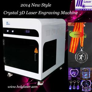 Machine de gravure intérieure en cristal à haute fréquence du laser 3D de commande numérique par ordinateur
