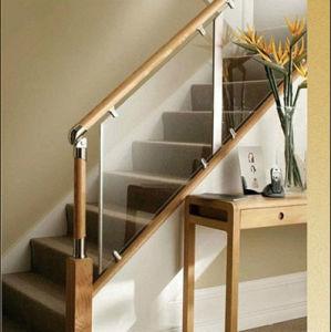 Barandillas laminadas modernas de la escalera del vidrio - Barandillas escaleras modernas ...